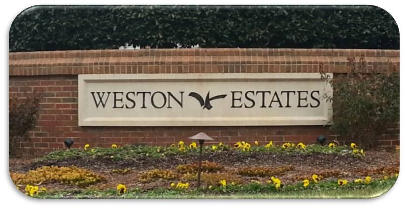 Weston Estates Entrance - Morrisville, NC 27560